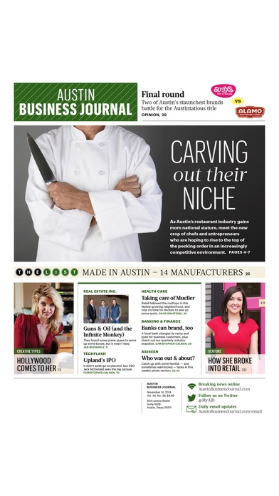 Austin Business Journal review screenshots
