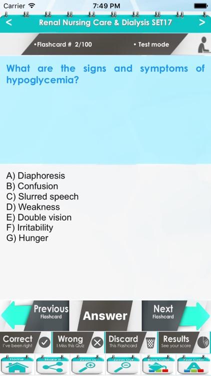 Renal Nursing Care & Dialysis 4000 Notes Exam Quiz screenshot-4