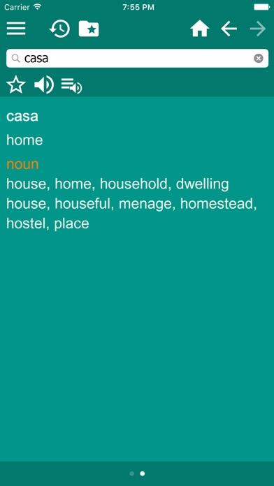 西班牙文 - 多種語言 字典屏幕截圖5