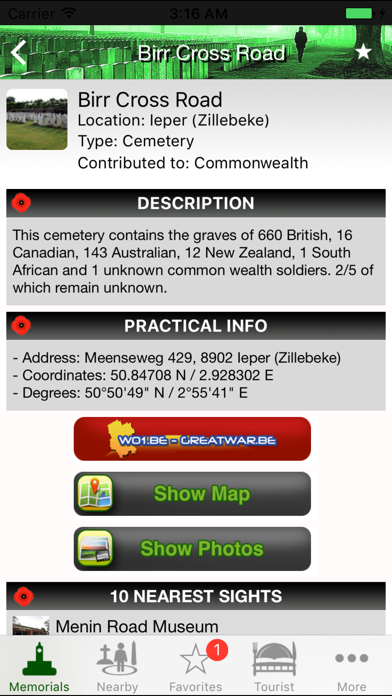 Flanders Fields Memorials screenshot two
