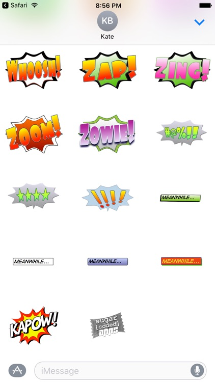 Ka-Pow! Comic Sound Effect Bubbles screenshot-4
