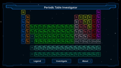 Periodic Table Investigator screenshot one