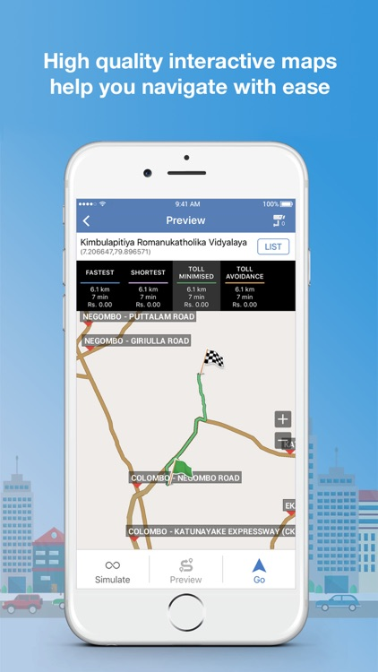 Galactio LK GPS Navigation & Maps screenshot-2
