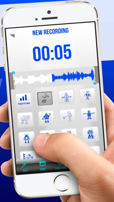 Robot Sound Recorder – Cool Voice Changer Effects iOS Application