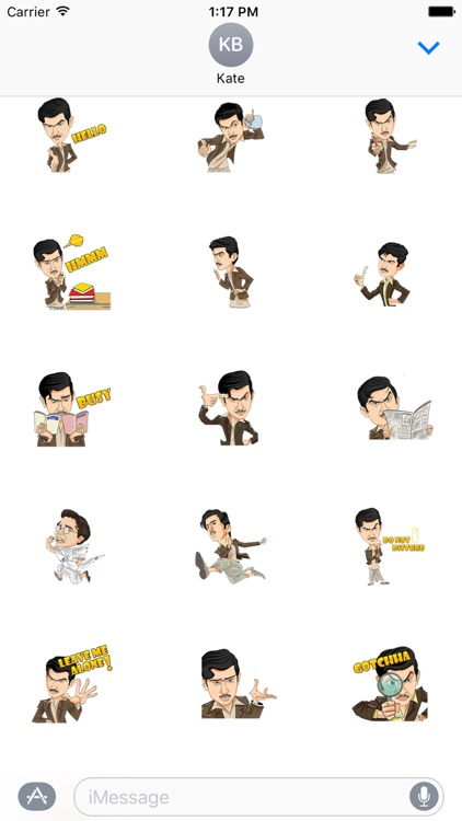 Mr Detective Stickers Pack for iMessage