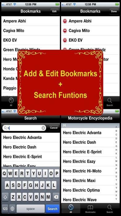 Motorcycle Encyclopedia review screenshots