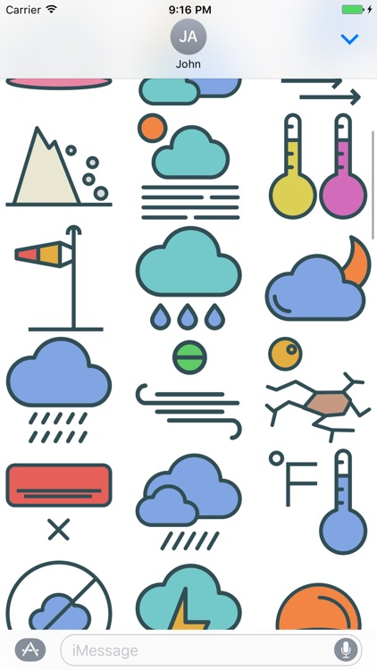 Weather Stickers - Cool Down or Heat Up Messages screenshot-3