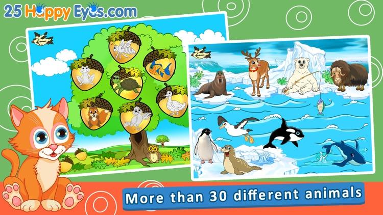 Joyful Animals for Kids - puzzle game for children screenshot-0