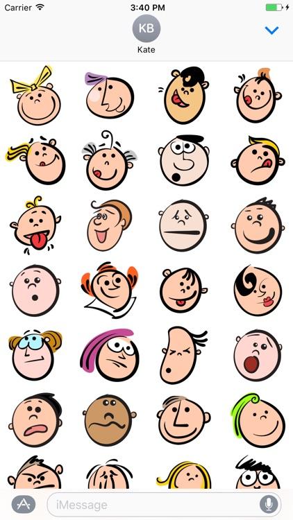 Faces Smile Doodle - Fx Sticker