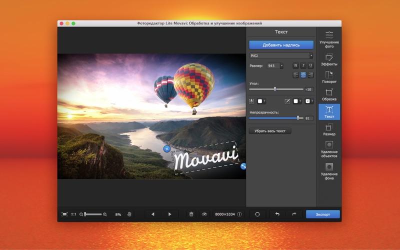 Фоторедактор Lite Movavi: Улучшение изображений скриншот программы 5