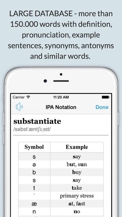 LexicEN English Offline Dictionary & Thesaurus screenshot-3