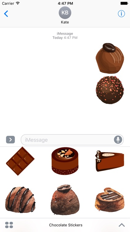 Chocolate Stickers For iMessage
