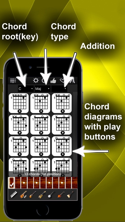 Chords Compass Find Piano Guitar Chords More By Max Schlee