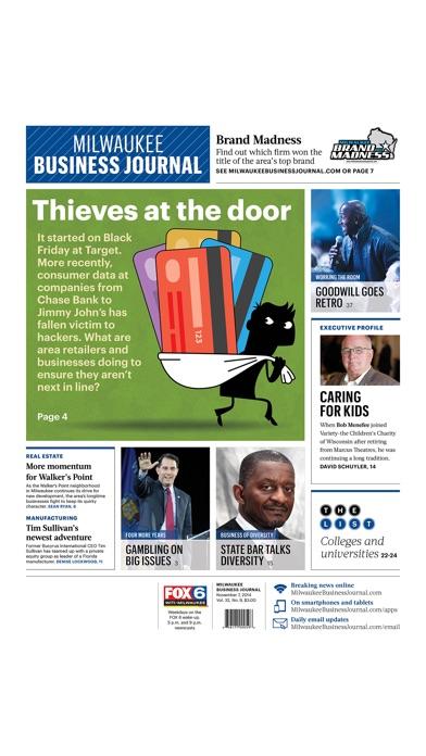 Milwaukee Business Journal review screenshots