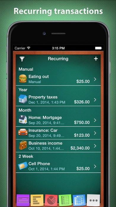 Checkbook HD: Personal finance Screenshots