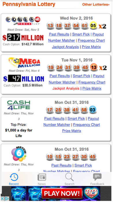 Top 10 Apps like Results for CT Lottery - Connecticut Lotto