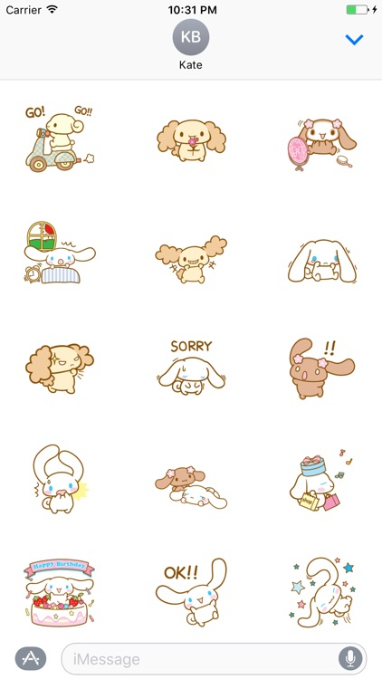 Muffin The Dog stickers pack
