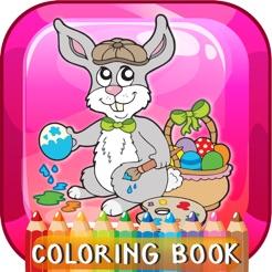 Happy Easter Boyama Kitabi Egitim Oyunlari Bedava Cocuklar Ve