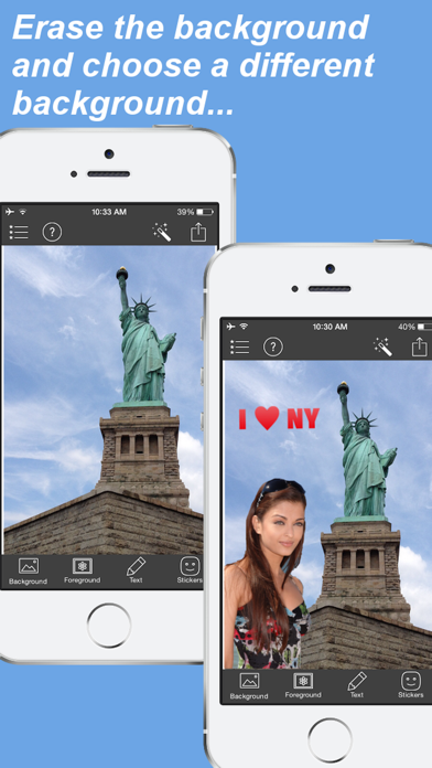 Photo Background Editor - Erase, Cut Out & Replace