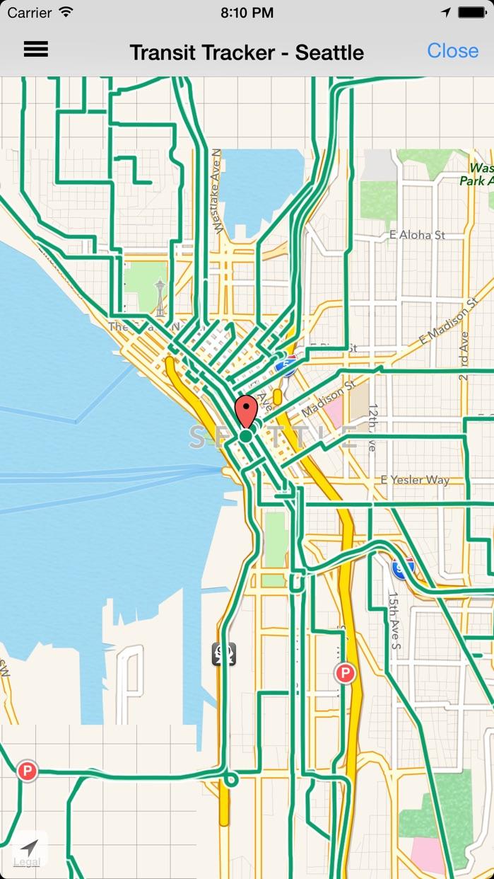 Transit Tracker - Seattle (King County) Screenshot