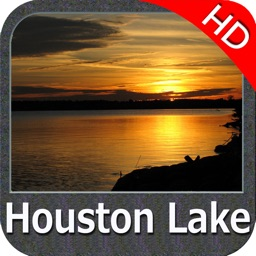 Lake Houston Texas HD GPS fishing map offline
