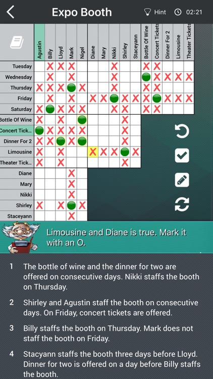 Logic Puzzles Daily - Solve Logic Grid Problems screenshot-0
