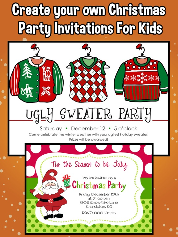 screenshot 1 for christmas party invitations for kids