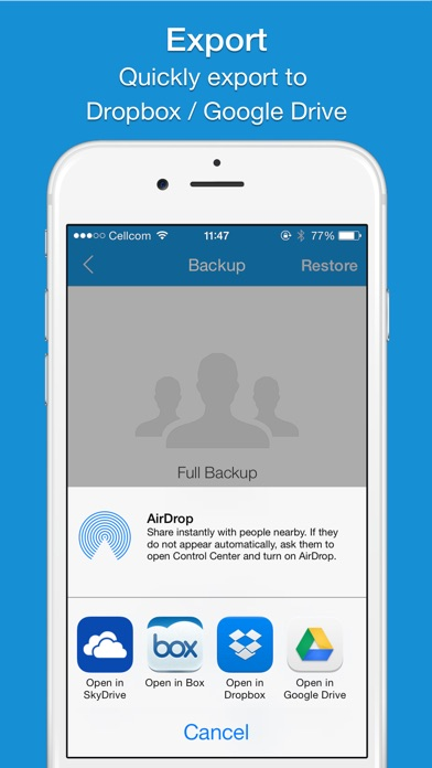 Easy Backup - Contacts Backup Assistant app image