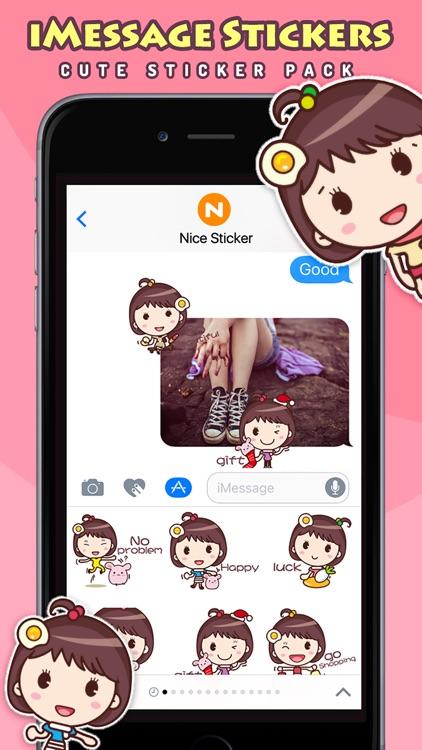 Yolk Girl - Cute Stickers by NICE Sticker screenshot-3