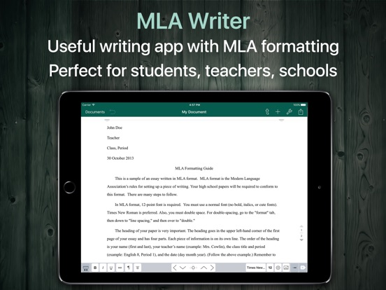 Screenshot #4 pour MLA Format and Document Writer
