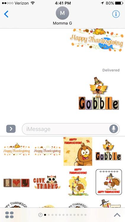 Thanksgiving iMessage Stickers screenshot-4