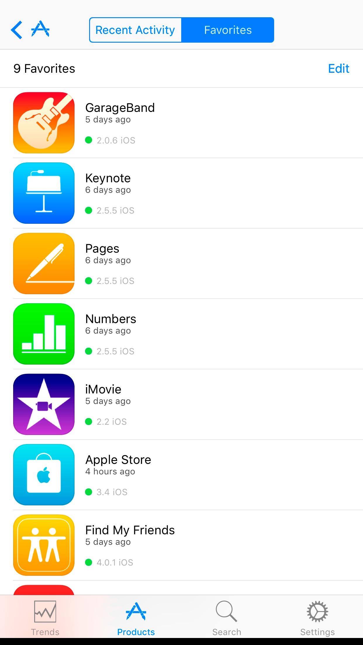iTunes Connect Screenshot