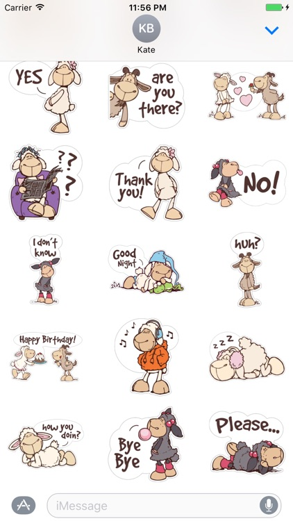 Cute Sheep Stickers