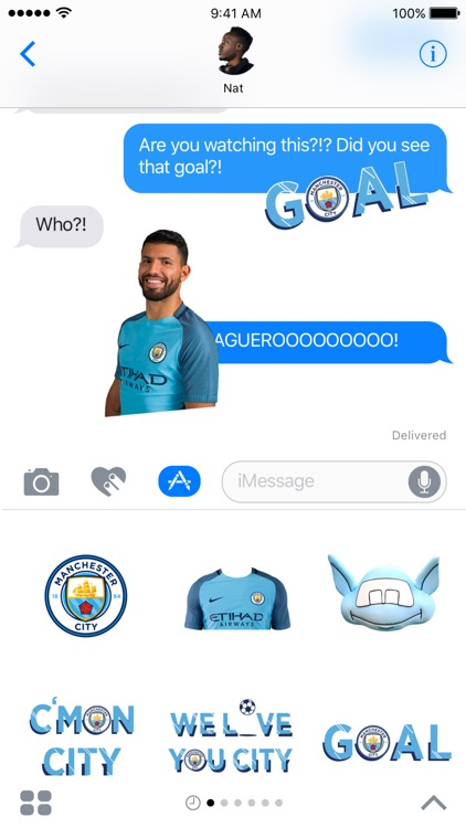 Manchester City Official Stickers