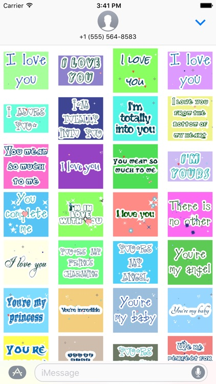 Animated Love Message Gif Stickers screenshot-1