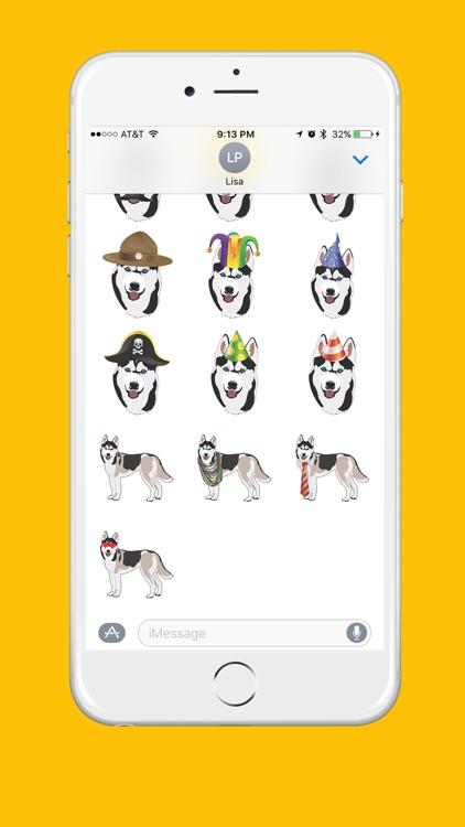 Siberian Husky Emoji screenshot-3