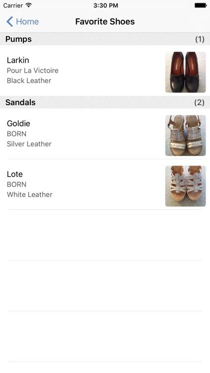 myShoeCache: Shoe Organizer screenshot-4
