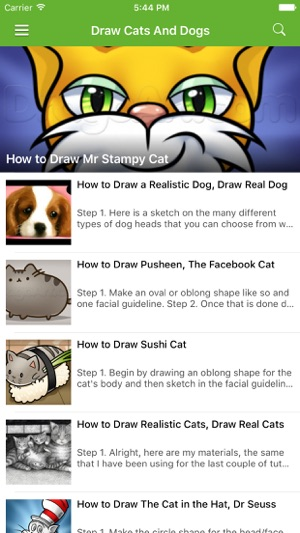 How to draw easy cats and dogs on the app store screenshots altavistaventures Image collections