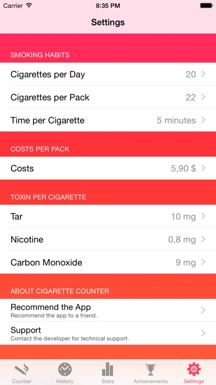 Cigarette Counter - How much do you smoke? screenshot-4