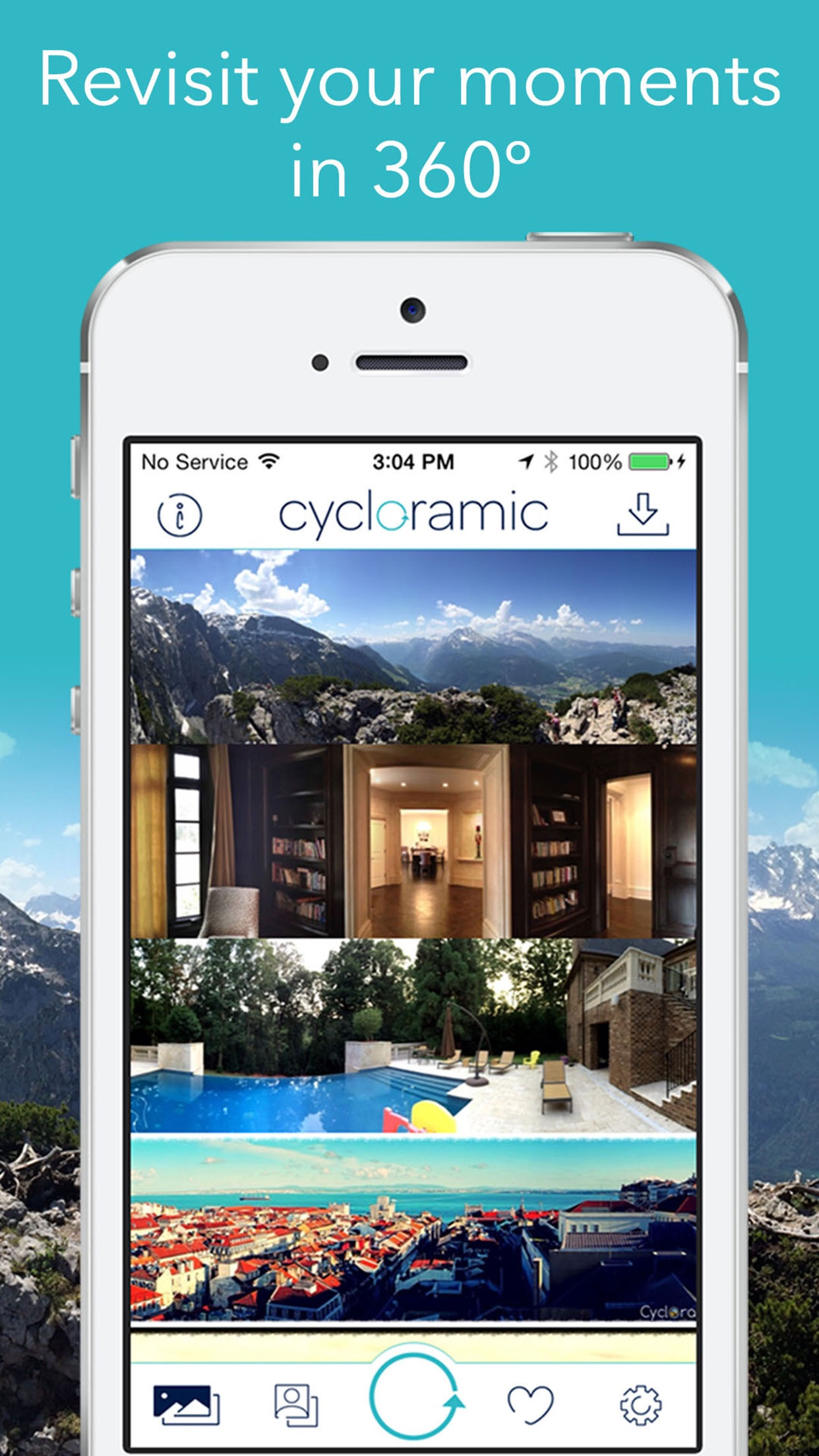 Cycloramic for iPhone SE/5/5S Screenshot