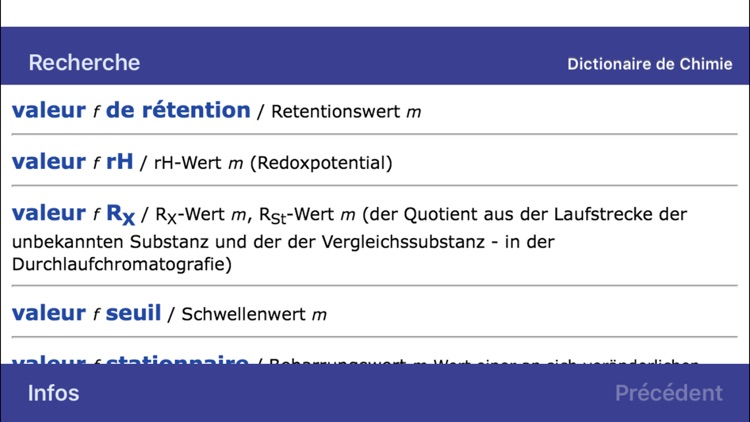 Dictionary of Chemistry German <-> French screenshot-4