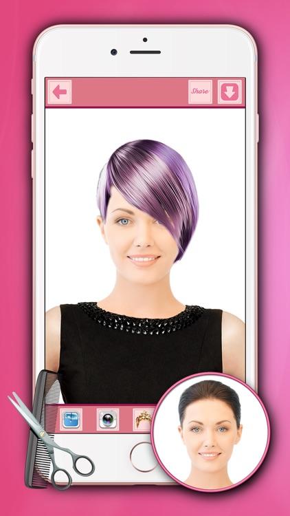 HairStyle Makeover For Girls - Hair Salon Editor screenshot-4