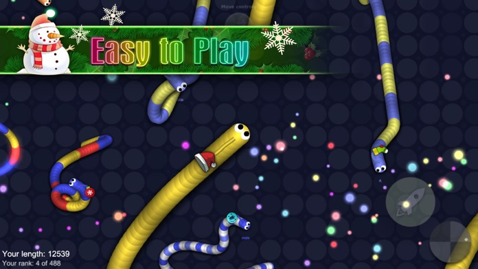 Snake with buddies - agar slither snake game Screenshot