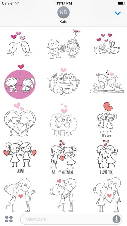 Cute Couple Stickers screenshot-4