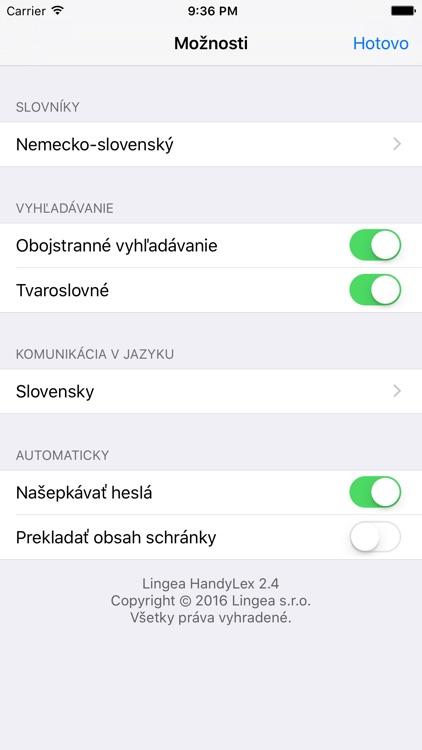 Lingea Nemecko-slovenský vreckový slovník screenshot-4
