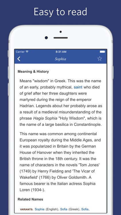 Name Origin Dictionary - etymology of names by Thanh Nguyen