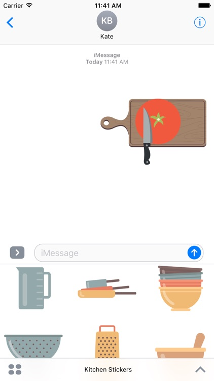 Kitchen Stickers For iMessage