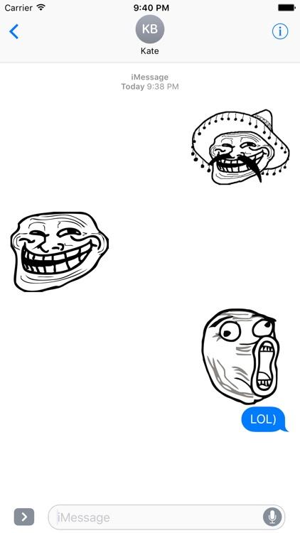 Memes - Rage Comic Stickers for iMessage screenshot-4