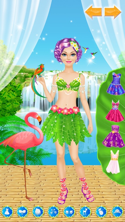 Tropical Princess: Girls Makeup and Dress Up Games screenshot-3