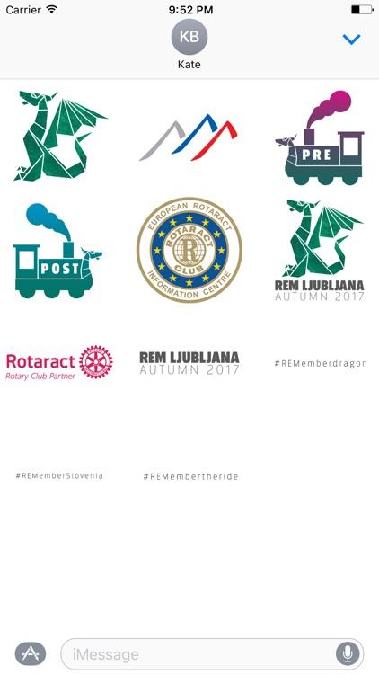 REM Ljubljana Stickers